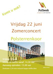 Zomerconcert Polsterrenkoor in Polbeek