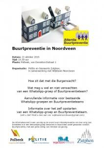 Informatieavond Buurtpreventie Noordveen