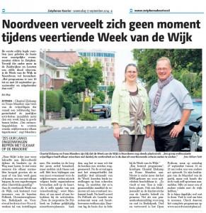 Week van de Wijk in de media (diverse artikelen en foto's)