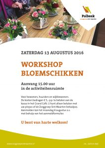 Workshop bloemschikken in Polbeek
