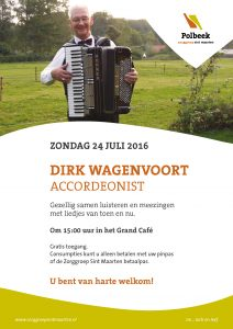 Optreden accordeonist Dick Wagenvoort in Polbeek