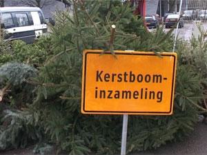 Kerstbomen inzameling op woensdag 10 januari