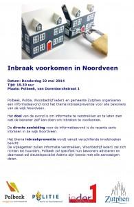 Aanplakbiljet infoavond inbraakpreventie 22 mei 2014
