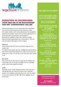 Nieuwe diensten Noordveen: 'praatje, belletje, hond'.
