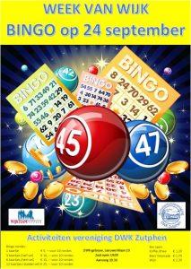 DWK nodigt u uit voor de eerste bingo van het seizoen