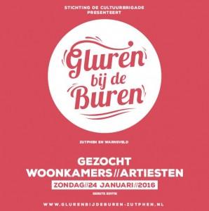 Inschrijving huiskamerfestival Gluren bij de Buren geopend