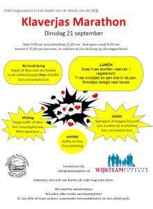 Klaverjas Marathon Week van de Wijk