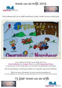 Flyer Prijsvraag Week van de Wijk 2015