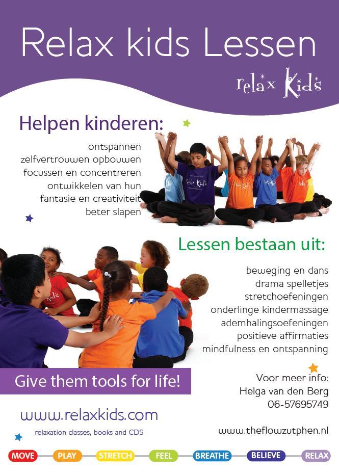 Flyer Relax Kids Helga van den Berg