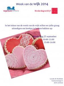 Uitnodiging voor jong en oud: koekjes bakken bij Stadstuin