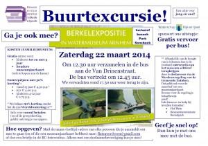 Flyer buurtexcursie Berkelexpositie Watermuseum Arnhem 22-03-2014