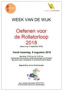 Oefenen voor Week van de Wijk-activiteit: Rollatorloop 2018