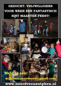 Vrijwilligers gezocht voor Sint Maarten Noordveen 2019