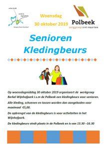 Seniorenkledingbeurs in Polbeek op 30 oktober
