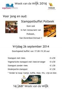 Flyer stamppotbuffet WvdW 26 sept 2014
