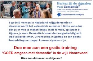 Trainingen 'GOED omgaan met dementie'