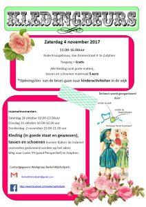 Kledingbeurs voor kinderactiviteiten in Wijnhofpark