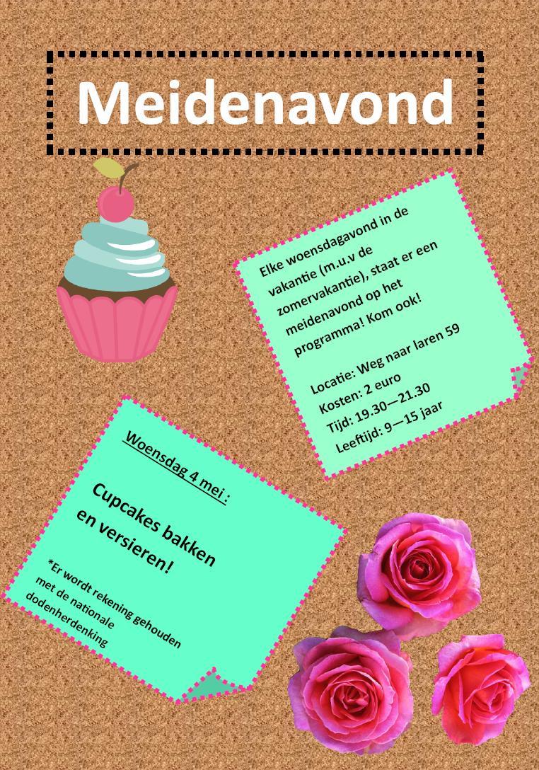 Meidenavond cupcakes 04052016