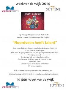 Talenten gezocht voor deelname aan Noordveen heeft talent