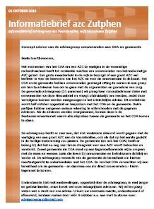 Informatiebrief adviesgroep asielzoekerscentrum Voorsterallee
