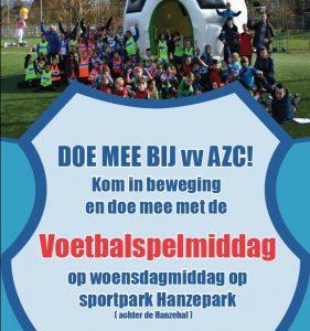 Voetbalspelmiddag bij voetbalvereniging AZC