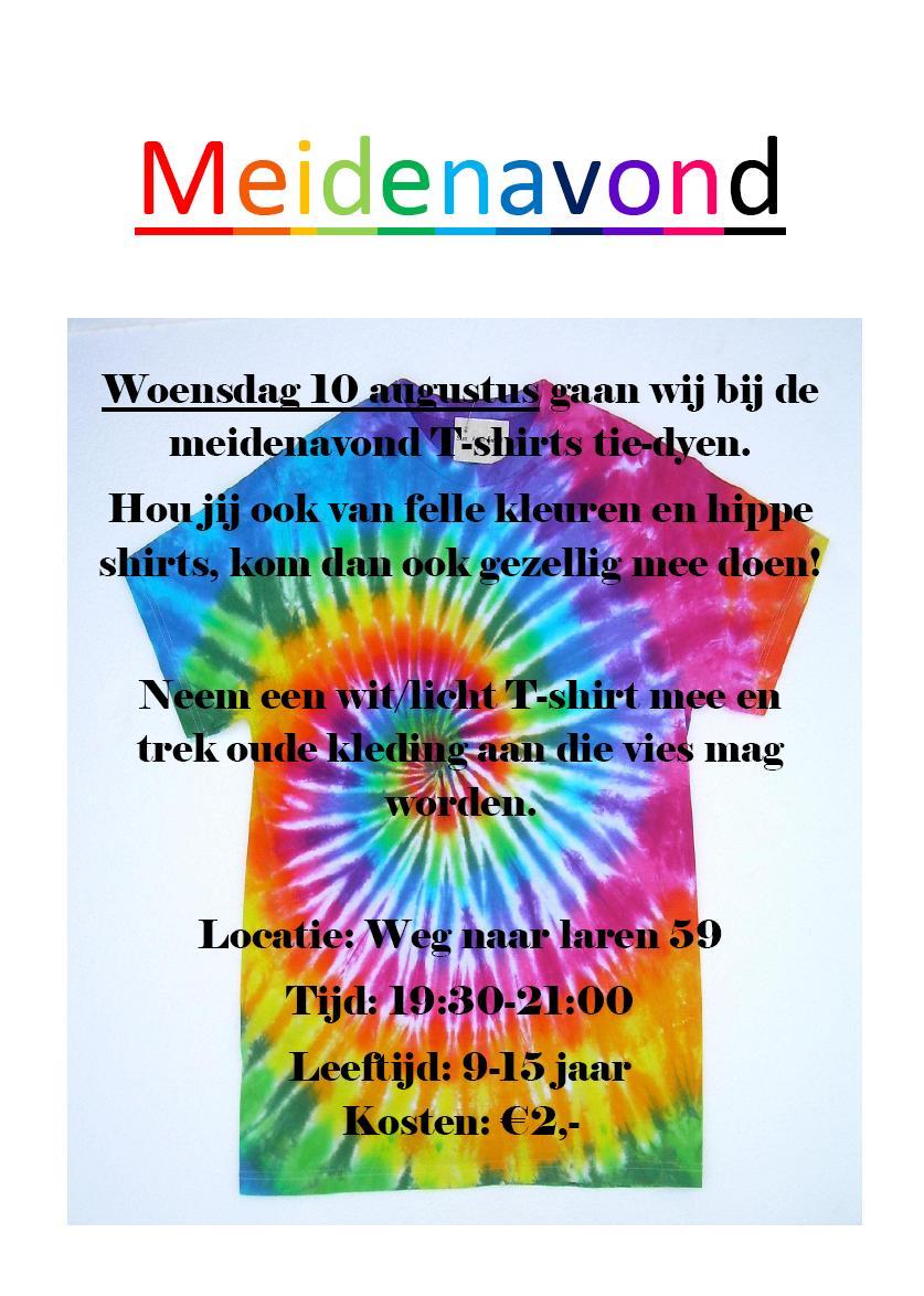 Poster MeidenavondTIE_DYE 10082016