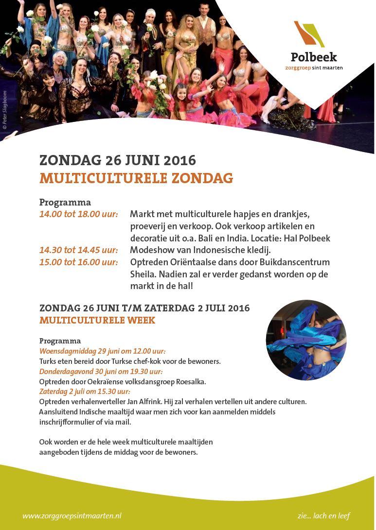 Poster Multiculturele Week Polbeek juni 2016