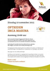 Optreden Imca Marina in Polbeek tijdens feestweek