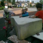 Start kunstwerk Polbeek juni 2014