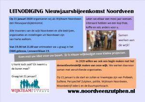 Terugblik  Nieuwjaarsbijeenkomst Noordveen