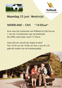 Broodmaaltijd en Nederlands elftal op TV in Polbeek, voor voetballiefhebbers in de wijk
