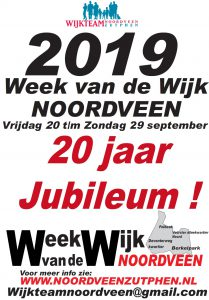 Vooraankondiging jubileum Week van de Wijk