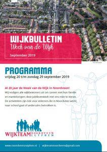Wijkbulletin met programma Week van de Wijk 2019
