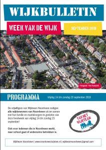 Wijkbulletin met programma Week van de Wijk in Noordveense brievenbussen