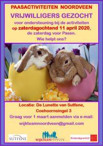 Oproep vrijwilligers Paasactiviteiten Noordveen