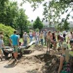 Werkzaamheden plaatsen poort Praebsterkamp 11 juni 2014