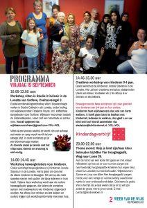 Week van de Wijk programma eerste vrijdag
