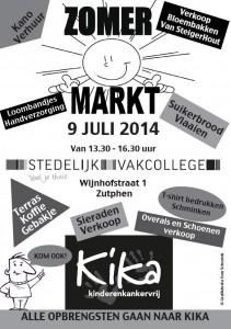 Zomermarkt voor Kika in Wijnhofstraat