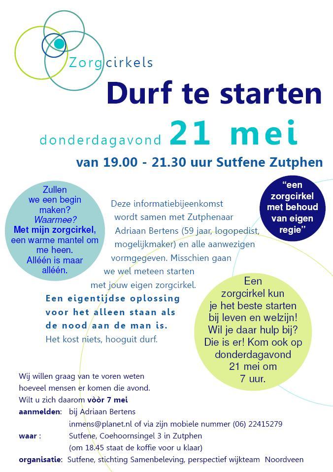 Zorgcirkels poster 21 mei 2015