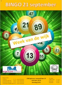 Bingo DWK met Week-van-de-Wijk-jubileumprijs